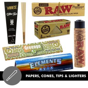 Papers, Cones, Tips & Lighters