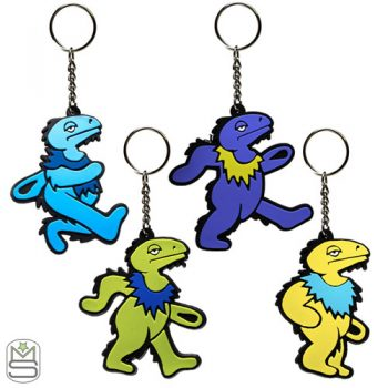 Elbo Glass – Dancing Dino Key Rings
