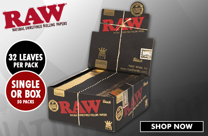 Slider - RAW Black King Size Slim Rolling Papers